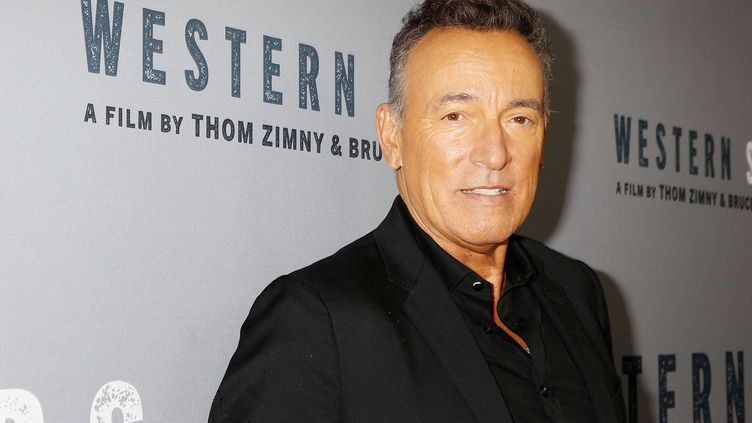 "Bruce Springsteen le 16 octobre 2019 à New York à l'avant-première du documentaire ""Western Stars"". (DAVE ALLOCCA/STARPIX/REX/SIPA / SHUTTERSTOCK)"