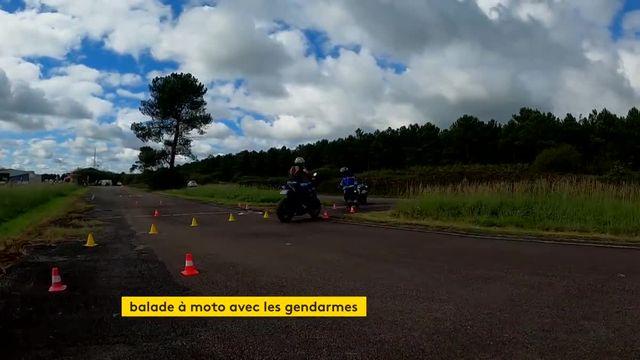 Une balade en moto avec des gendarmes