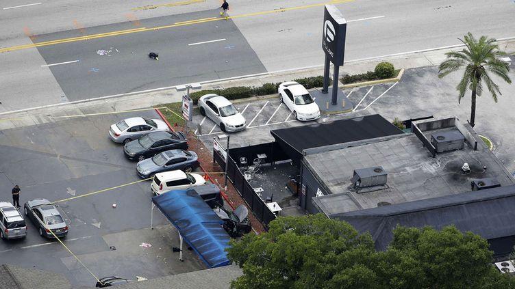 (La discothèque gay à Orlando, où a eu lieu la fusillade sanglante dans la nuit de samedi à dimanche en Floride© Sipa)