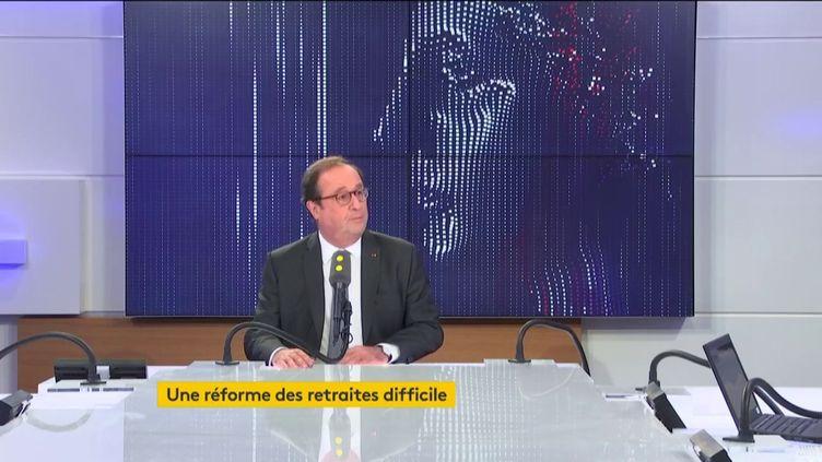 François Hollande était l'invité de franceinfo mercredi 23 octobre 2019. (FRANCEINFO / RADIO FRANCE)