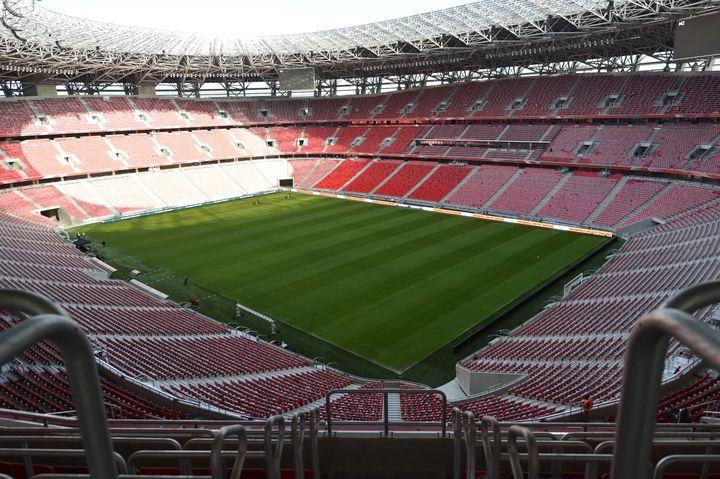 Le stade Ferenc-Puskas de Budapest (ici le 11 novembre 2019), l'une des onze villes hôtes de l'Euro 2020. (ATTILA KISBENEDEK / AFP)