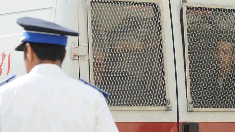 Un des suspects de l'attentat contre le café «Argana» de Marrakech, qui a fait 17 victimes le 28 avril 2011. (AFP PHOTO / ABDELHAK SENNA)