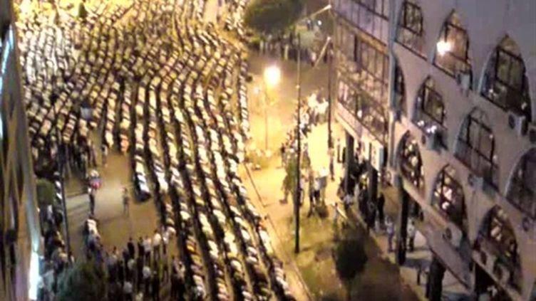 Manifestation contre le régime syrien le 18 avril à Homs (centre du pays). Photo YouTube (AFP - YouTube)