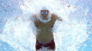 Le nageur Florent Manaudou participe à la demi-finale du 50 m papillon lors des championnats du monde de natation à Kazan (Russie), le 2 août 2015. (FRANCOIS XAVIER MARIT / AFP)