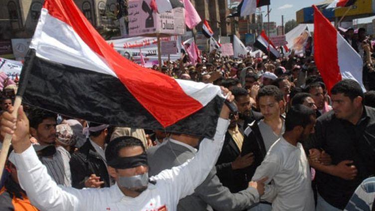 Manifestation de l'opposition à Sanaa (3 février 2011) (AFP / Gamal Noman)