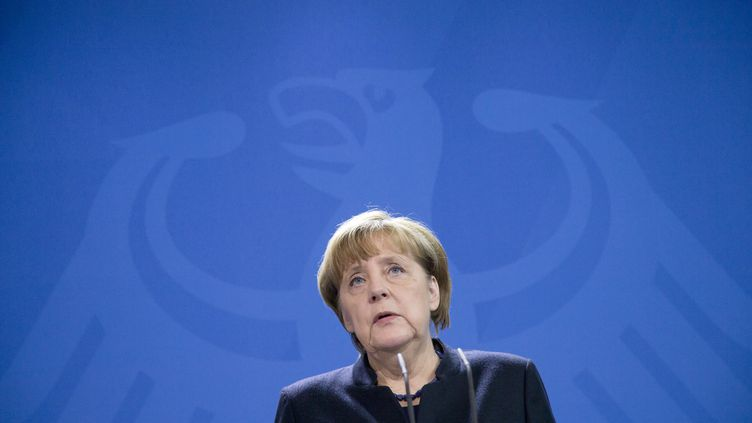 La chancelière allemande Angela Merkel donne une conférence de presse à Berlin (Allemagne), le 20 décembre 2016. (EMMANUELE CONTINI / NURPHOTO / AFP)