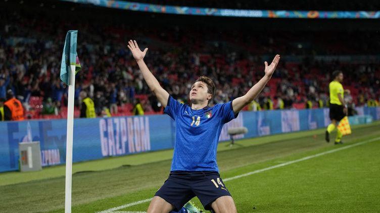 Federico Chiesa a délivré l'Italie en prolongation contre l'Autriche à l'Euro 2021, le 26 juin. (FRANK AUGSTEIN / POOL)