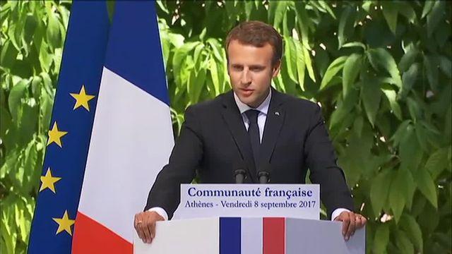 Macron s'en prend aux fainéants, aux cyniques et aux extrêmes