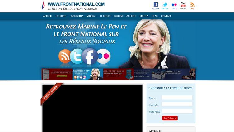 Le Front national a lancé son nouveau site le 24 octobre 2011. (Front national)