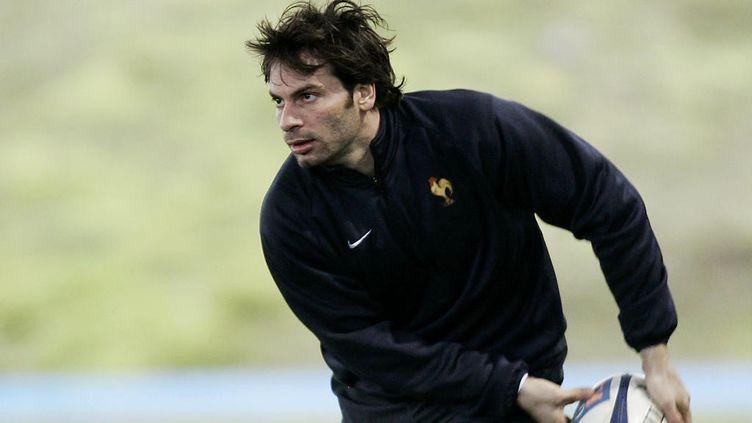Christophe Dominici, lors d'un entraînement à Marcoussis, le 7 mars 2006. (PASCAL PAVANI / AFP)