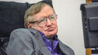 L'astrophysicien britannique mort à l'âge de 76 ans, Stephen Hawking, le 3 avril 2013. (MAXPPP)