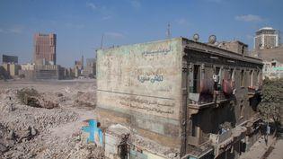 L'un des immeubles du triangle Maspero au Caire, menacé de destruction (Martin Roux)