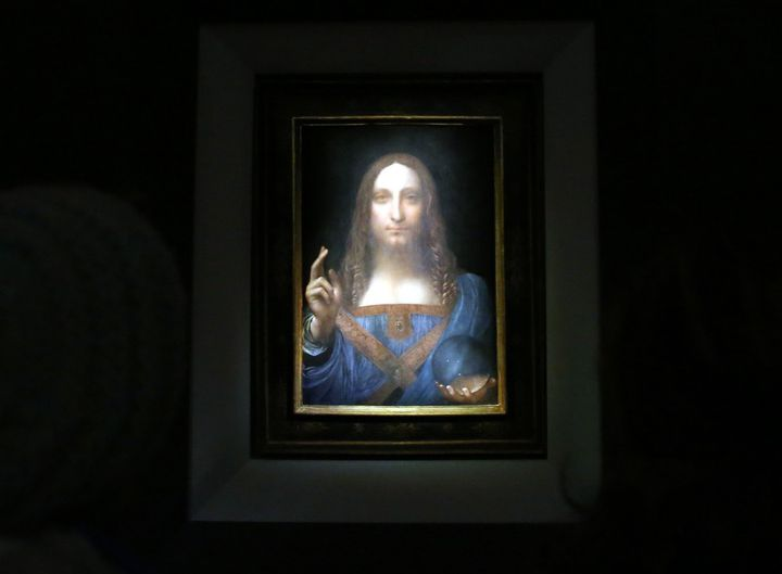 """Salvator Mundi"" de Léonard de Vinci  (MOHAMMED ELSHAMY / ANADOLU AGENCY)"