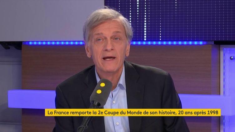 Frédéric de Saint- Sernin, ancien président du Stade Rennais, invité de sur franceinfo, lundi 16 juillet 2018. (RADIO FRANCE / FRANCE INFO)