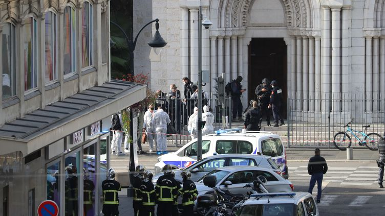 La basilique Notre-Dame de Nice, le 29 octobre 2020. (VALERY HACHE / AFP)
