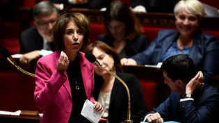 La ministre de la Santé Marisol Touraine, le 5 octobre 2016 à l'Assemblée nationale. (MARTIN BUREAU / AFP)