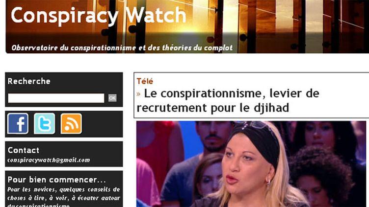 (© Capture écran du site Conspiracy Watch)