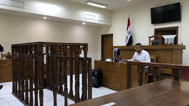 Un tribunal de Bagdad, qui a jugé neuf Français et les a reconnu coupables d'appartenir au groupe État islamique. (C?LINE MARTELET / ENVOY? SP?CIAL)