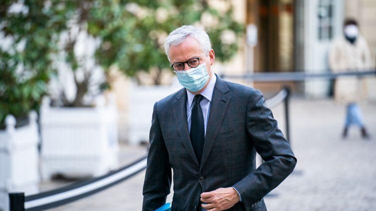 Le ministre de l'Economie, Bruno Le Maire, le 26 octobre 2020 à Matignon, à Paris. (XOSE BOUZAS / HANS LUCAS / AFP)