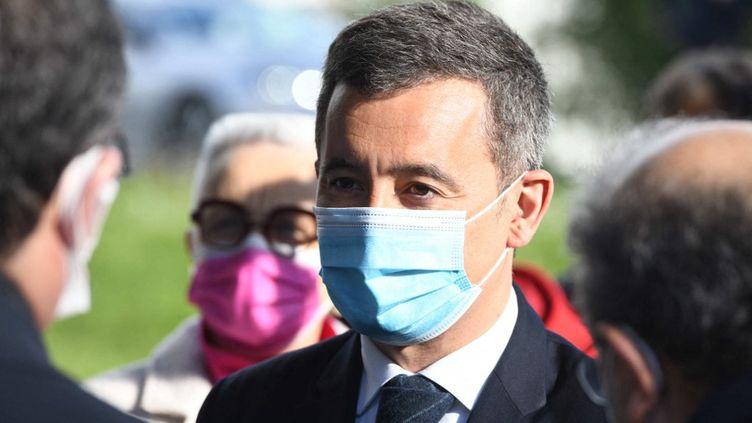Le ministre de l'Intérieur, Gérarld Darmanin, à Rennes (Ille-et-Vilaine), le 11 avril 2021. (RONAN HOUSSIN / HANS LUCAS / AFP)