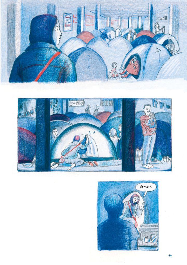 """Chez toi. Athènes 2016"", de Sandrine Martin, page 19 (Sandrine Martin / Casterman)"