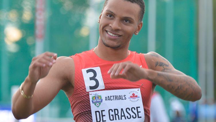 Le sprinteur canadien Andre De Grasse (ARTUR WIDAK / NURPHOTO)