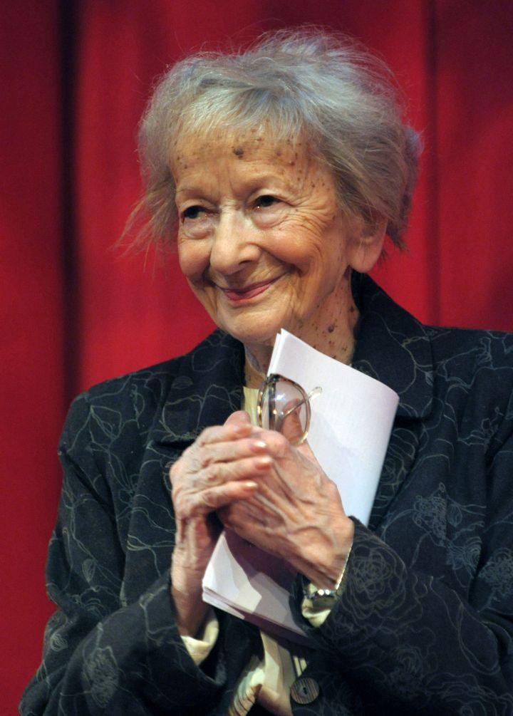 La poétesse polonaise Wislawa Szymborskale 27 janvier 2009 à Cracovie (JANEK SKARZYNSKI / AFP)