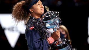 Naomi Osaka a remporté son quatrième titre du Grand Chelem, à Melbourne, samedi 20 février. (DAVID GRAY / AFP)