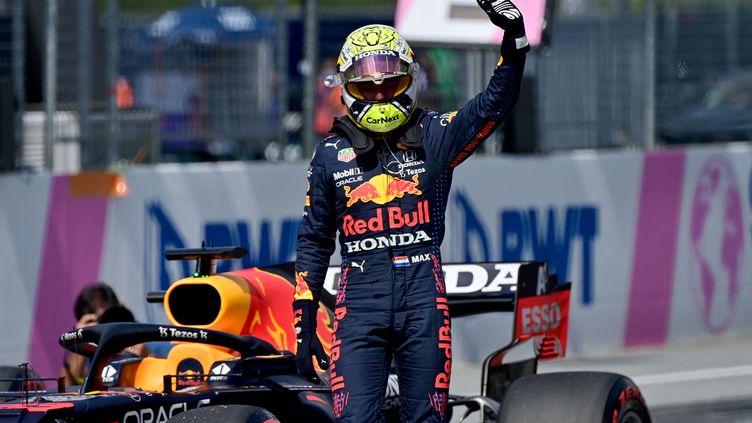 Max Verstappen (Red Bull) a décroché la septième pole de sa carrière samedi au circuitRed Bull Ring. (ANDREJ ISAKOVIC / AFP)