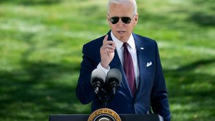 Joe Biden, le 27 avril 2021, à Washington. (BRENDAN SMIALOWSKI / AFP)