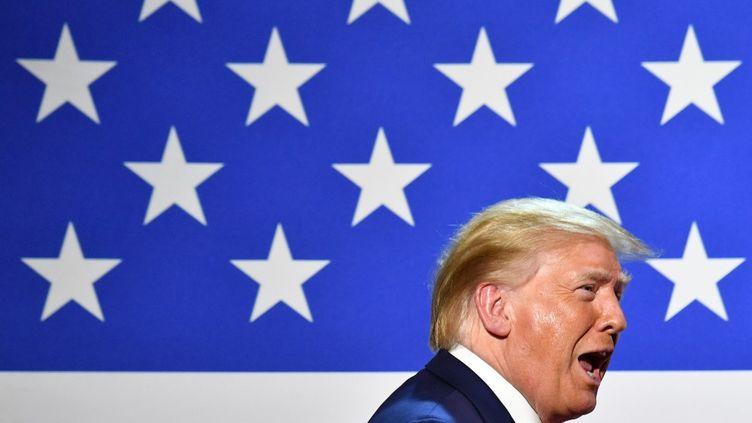Le président américain Donald Trump lors d'une table ronde à Dallas, au Texas, le 11 juin 2020. (NICHOLAS KAMM / AFP)