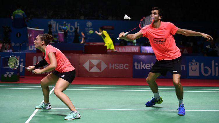 Ronan Labar and Audrey Fontaine, le 3 juillet 2018 à l'Open de Djakarta en Indonésie. (GETTY IMAGES)