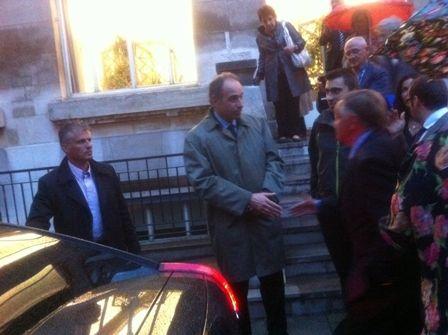 Jean-François Copé quitte la salle des Orphelins d'Auteuil à Paris, le 5 juin 2012. (CR)