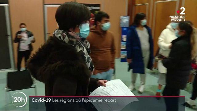Coronavirus : ces régions où l'épidémie repart à la hausse