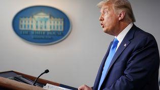 Le président américain, Donald Trump, le 23 septembre 2020 à Washington (Etats-Unis). (MANDEL NGAN / AFP)