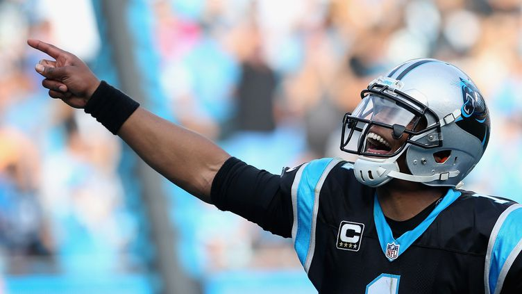 Cam Newton, quarterback des Carolina Panthers (STREETER LECKA / GETTY IMAGES NORTH AMERICA)