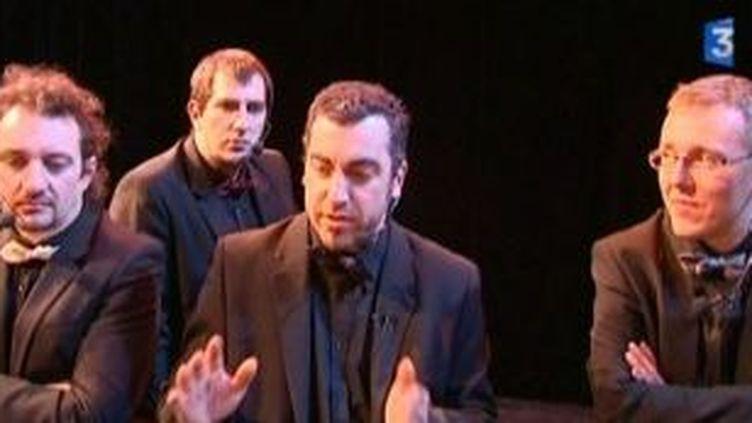Quartendo 4 voix sur la scène du RollMops  (Culturebox)