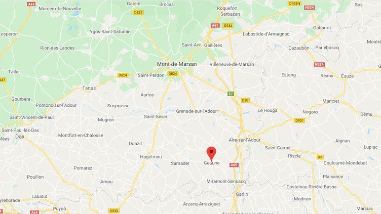 Geaune (Landes).  (CAPTURE D'ECRAN GOOGLE MAPS)