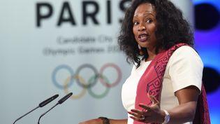 L'ex-ministre des Sports Laura Flessel, le 13 septembre 2017 à Lima, au Pérou. (CRIS BOURONCLE / AFP)