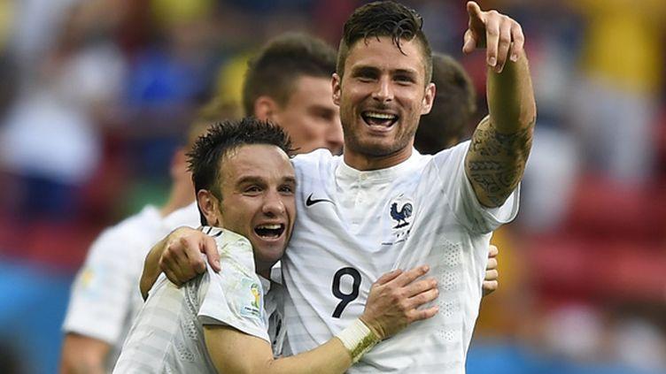 L'équipe de France de Mathieu Valbuena et Olivier Giroud affrontera l'Allemagne pour le choc des quarts de finale de la Coupe du monde
