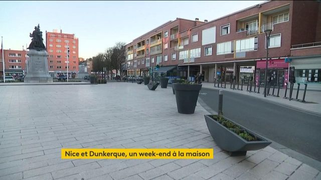 Covid-19 : un week-end de confinement à Nice et Dunkerque