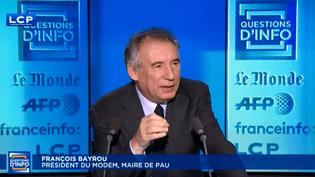 François Bayrou, maire de Pau (MoDem), le 7 décembre 2017. (FRANCEINFO)