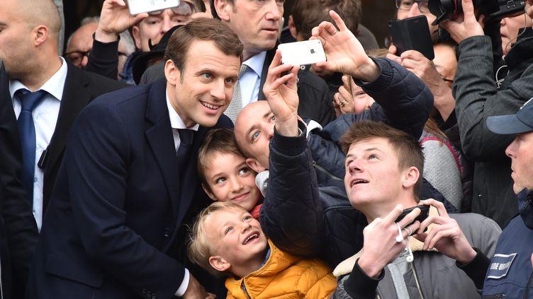 Emmanuel Macron, le 7 mai 2017, au Touquet (Pas-de-Calais). (PHILIPPE HUGUEN / AFP)