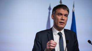 Olivier Faure, le premier secrétaire du Parti socialiste à Ivry-sur-Seine, le 21 janvier 2020. (THOMAS SAMSON / AFP)