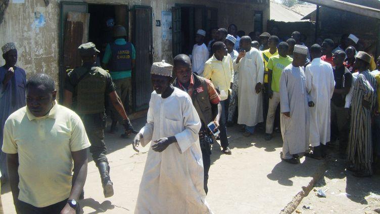 Sept hommesavaient été jugés en 2014 pour leur homosexualité au Nigeria. (AMINU ABUBAKAR / AFP)