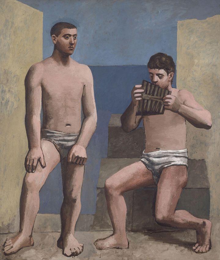Pablo Picasso (1881-1973)La Flûte de Pan, Paris; automne 1923Huile Sur Toile, 205 × 174,5 Cm,Musée National Picasso-Paris (© Photo RMN - Jean-Gilles Berizzi)