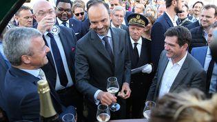 Le Premier ministreEdouard Philippe inaugure la foire agricole de Chalons-en-Champagne (marne), le 1er septembre 2017 (FRANCOIS NASCIMBENI / AFP)
