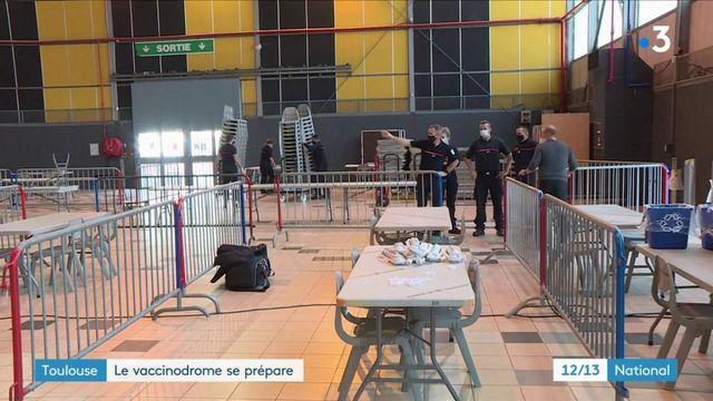 Covid-19 : à Toulouse, le vaccinodrome se prépare à administrer 4 000 doses dans le week-end