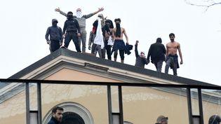 Une mutinerie à la prison à Milan, le 9 mars 2020. (PIER MARCO TACCA / ANADOLU AGENCY)