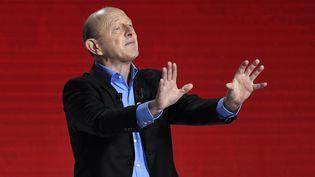 Jean-Luc Bennahmias, lors du deuxième débat de la primaire de la gauche, le 15 janvier 2017, à Paris. (BERTRAND GUAY / AFP)